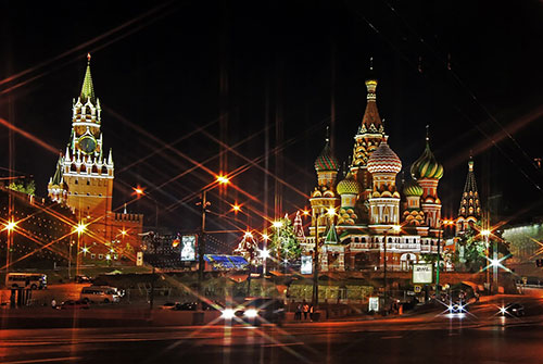 A view of Kremlin, a travel destination in Russia.
